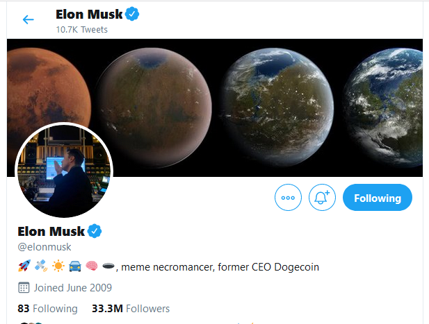 Elon Musk Acknowledges His Position as the Former CEO of Dogecoin (DOGE)