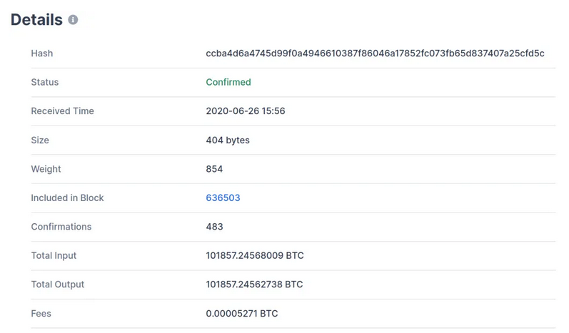 Bitcoin Whale Drains Wallet Containing $936M worth of BTC for A transaction Fee Of $0.48