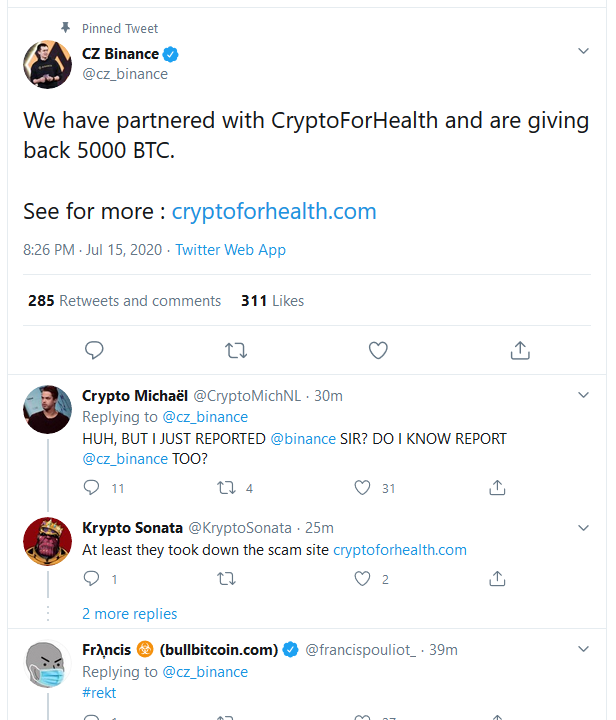 Twitter Accounts Justin Sun, Binance, CZ and Some Other Crypto Big Guns Got Hacked