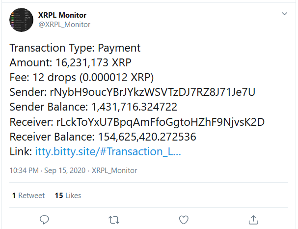 Ripple Moved 16.2 Million XRP from Binance As Jed McCaleb Initiates another XRP Selloff