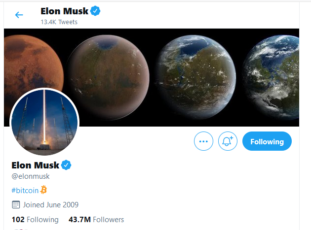 Elon Musk Just Changed His Twitter Bio to Bitcoin. Tesla Capital in BTC Imminent?