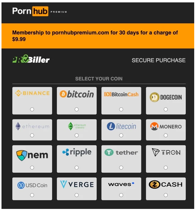 Pornhub Adds XRP, Dogecoin (DOGE), Binance Coin (BNB), USDC, To Its Payment Options