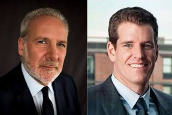 Bitcoin: I Know As the Operator of Gemini That There Is a Huge Institutional Demand –Tyler to Peter Schiff