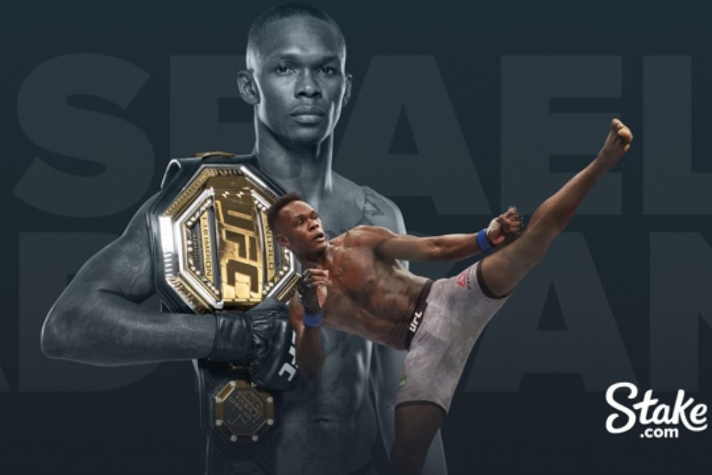 UFC Champion Israel Adesanya Signs Ambassador Deal with Stake.com