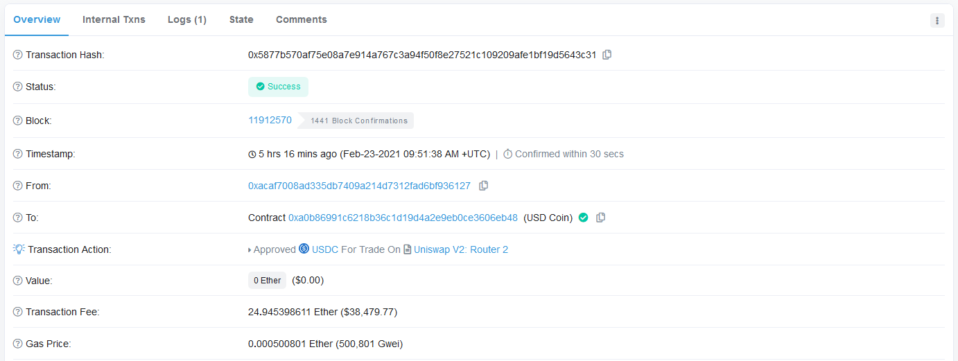 Someone Just Paid $38,500 worth of ETH on Ethereum Network in a Single Transaction