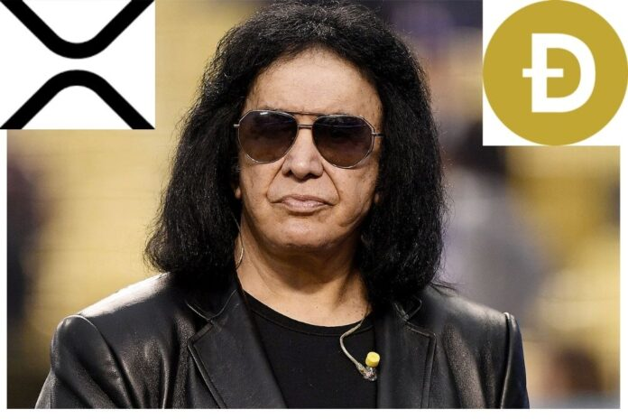 American Rock Musician Gene Simmons Reveals He's Bought XRP and Dogecoin (DOGE)