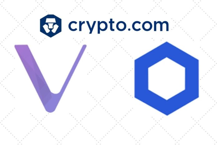 Crypto.com Exchange Launches VeChain (VET) and Chainlink (LINK) Lending Services