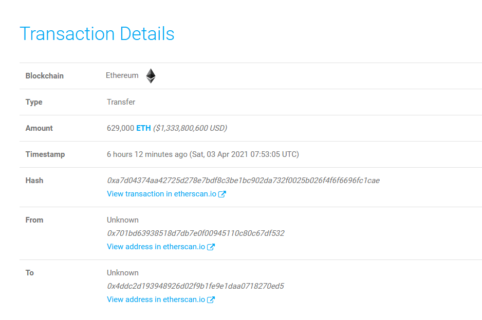 Ethereum Whale Just Moved $1.3 Billion in ETH to DeFi in a Single Transaction As Price Stays Above $2,100
