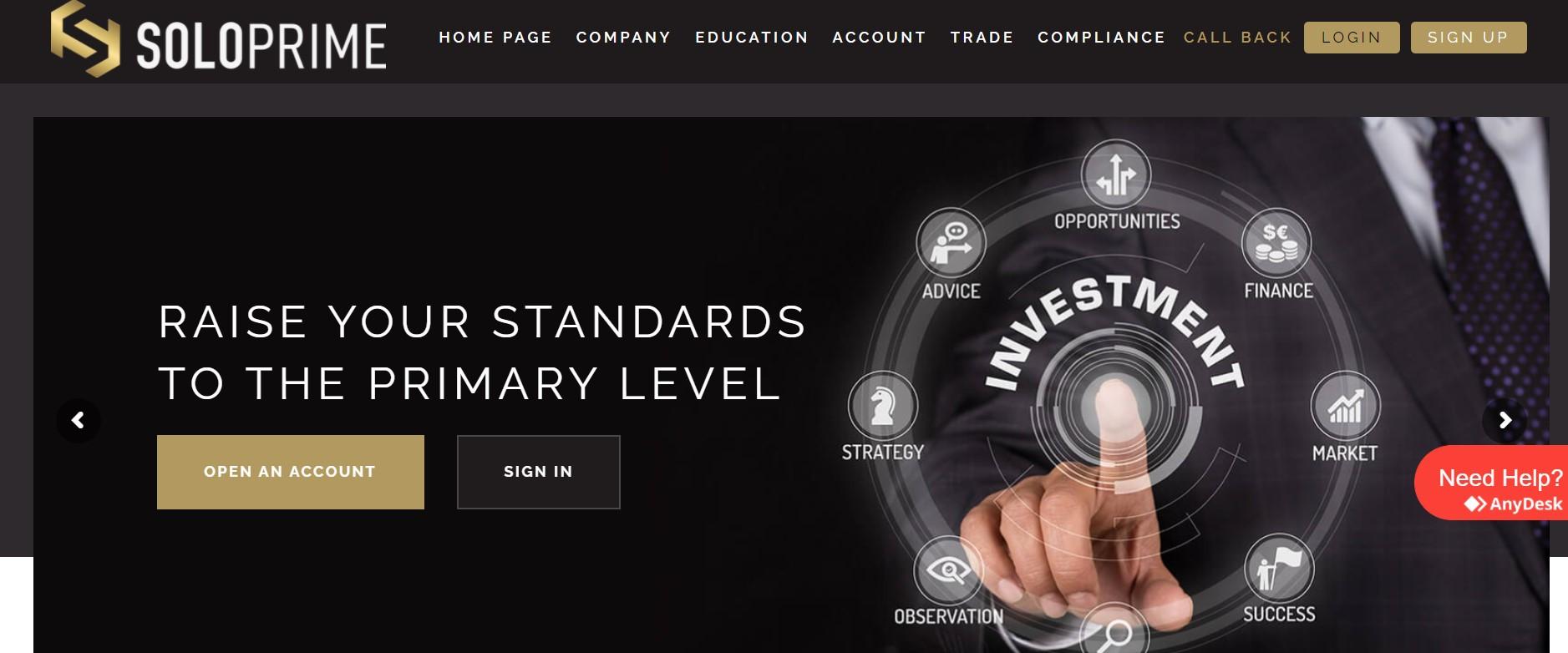 Soloprime website