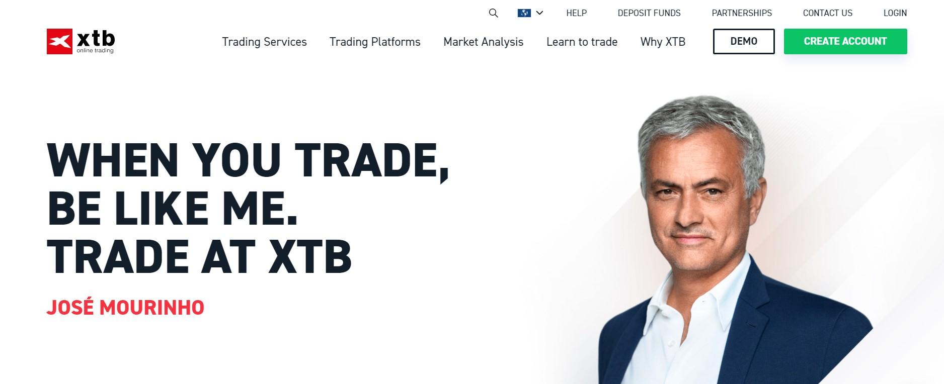 XTB website
