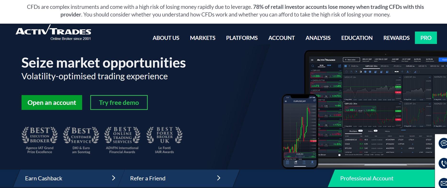 ActivTrades website