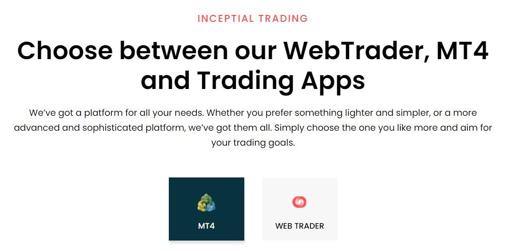 inceptial.com Trading platforms